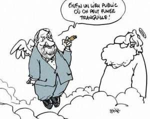 humour mauvaise foi interdiction cigarette lieu public dialogue